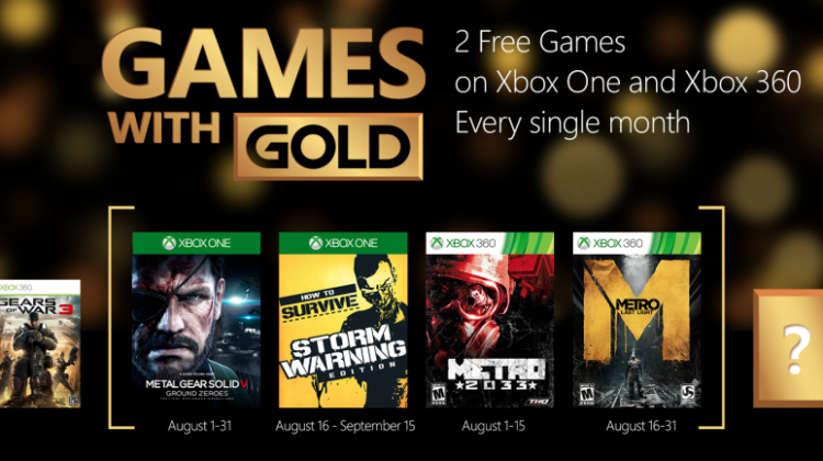 Games with Gold Agosto 2015