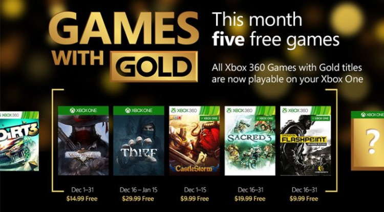 Games With Gold Dicembre 2015