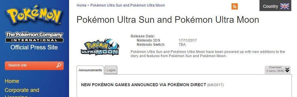 Pokémon Ultrasole e UltraLuna