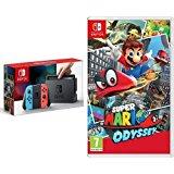 Nintendo Switch - Blu/Rosso Neon + Super Mario Odyssey