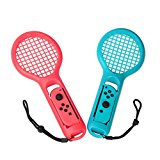 OIVO Racchetta da tennis compatibile per Nintendo Switch Joy Con, 2 PACK, Red & Blue