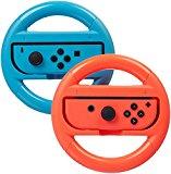 AmazonBasics - Volanti per Nintendo Switch - Blu/Rosso (confezione da 2)